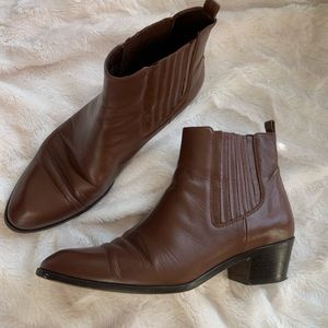 J. Crew Chelsea boots brown leather 9.5